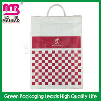 decorated plastic bag with fork ear handle new china product for sale