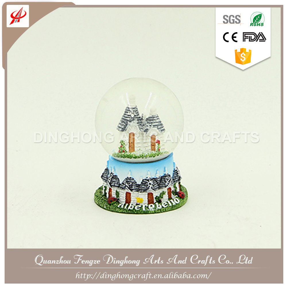 Polyresin Christmas Santa Claus Snow Globe Customized Logo Clear Acrylic Block