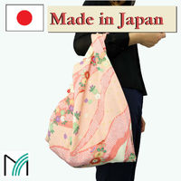 wholesale fold up reusable shopping bag made in japan chirimen crepe fabric bags and accessories