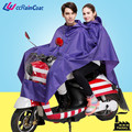 polyester double riding foldable raincoat