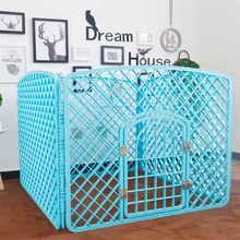 Custom outdoor pp plastic 4 panels portable pet carrier playpens indoor small puppy cage fence cat dog playpen for dogs