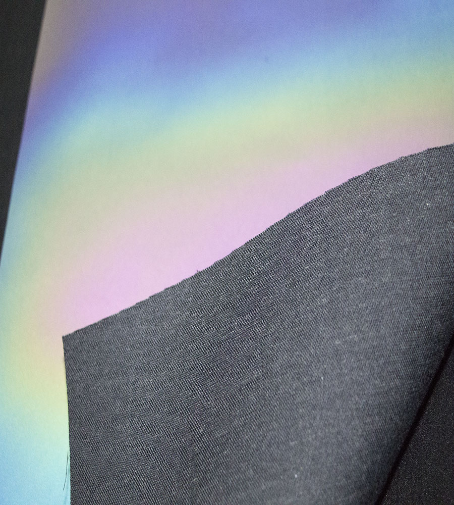 reflective rainbow transfer fabric