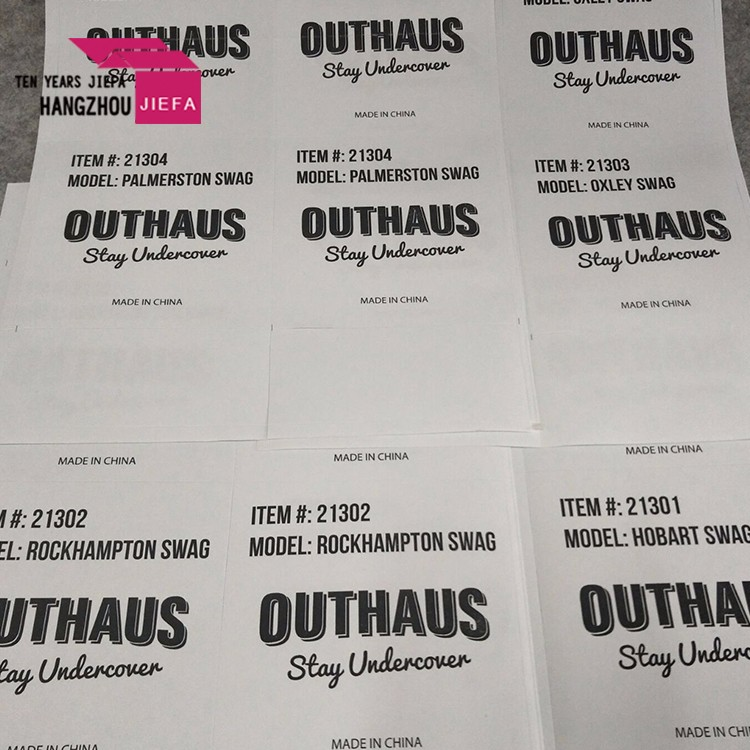 Manufacture paper adhesive carton label sticker