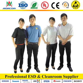 OEM factory Full cotton ESD polo shirts breathable ESD T-shirts