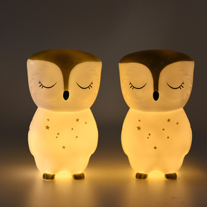 Promotion Factory Price 22*15cm Colorful Owl LED Night Light Children Cute Night Lamp Baby Lamp Light