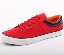 Red Factory Canvas Rubber Shoes China Wholesale