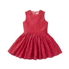 Wholesale Children'S Boutique Clothing Lace Cotton Baby Girls Party Dress