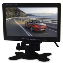 Widescreen 16:9 car lcd 7 inch monitor mini tv with 2AV