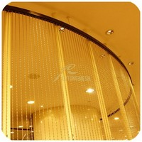 Decorative hunging metal bead string curtain