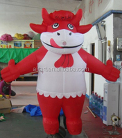 custom inflatable cow mascot costume/inflatable milk cow