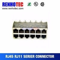 8 Port RJ45 Electrical Coaxial Connectors Price RJ11 RJ45 Connectors