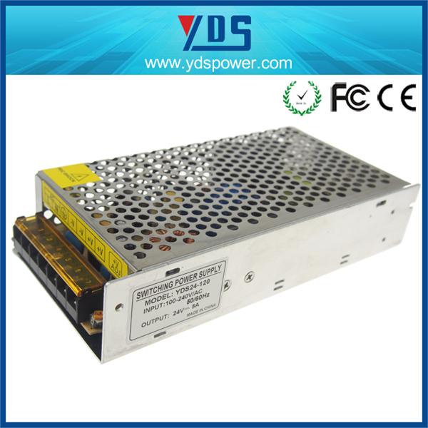 CE approved various YDS portable power source120w 24v 5a power supply dc power supply
