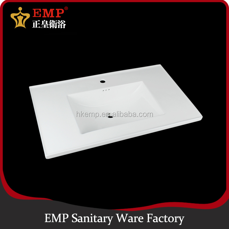 Easy cleaning bathroom wash basin design laboratory ceramic sink