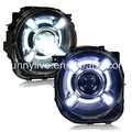 For Jeep Renegade BU 2014-2016 led Head Light Black Housing