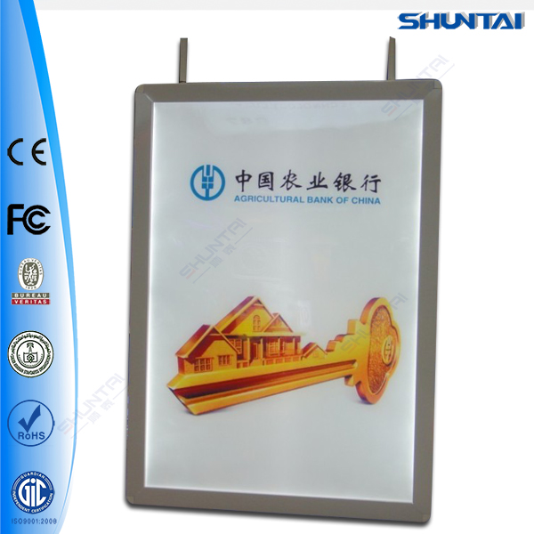 ceiling hanging double side aluminum led light box