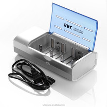 High Quality EBL Battery Charger 4 Bays for C D 9V AA AAA Rechargeable Battery