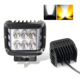 Auto Car Parts ,Factory 12D Reflector Driving Side beam Flood Srobe Flashing 3inch square Car 45w Led Work Light