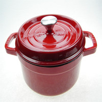 Cast iron red enamel cookware water pot