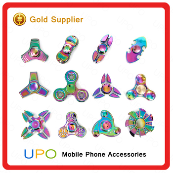 [UPO] 2017 Wholesales Colorful Metal Spinner,Rainbow Metal Finger Spinner,Hot Selliing Hand Spinner in Stocks.