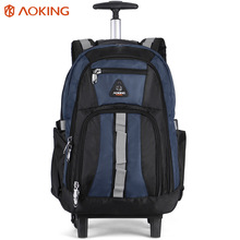 Aoking 1680D large capacity classic wheels trolley backpack durable travel bag with trolley