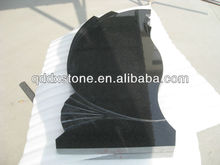 china natural black granite flat headstones