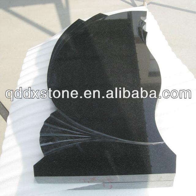 china natural black granite flat headstones