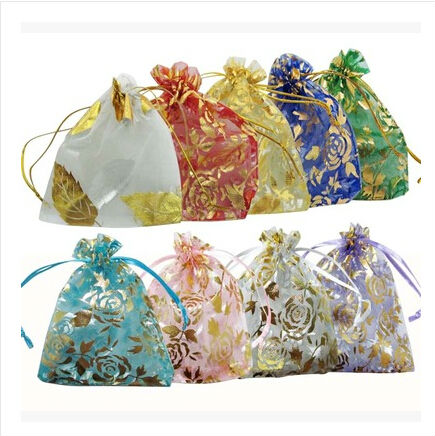 Sky blue Wedding pouch bags,sweet pouch Organza pouch CH168