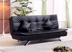 LSB011#1 high quality home furniture leather metal frame sofa bed folding sofa bed