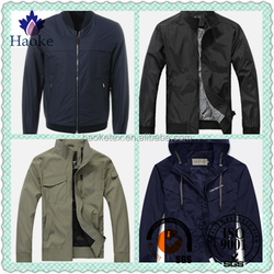 high quality 100%polyester pu coated memory fabric jacket