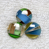 Wholesale multi color mosaics for cufflinks making,cat eye stone mosaic beads