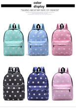 2017 new shoulder bag simple bag school students fashion printing backpack travel computer bag