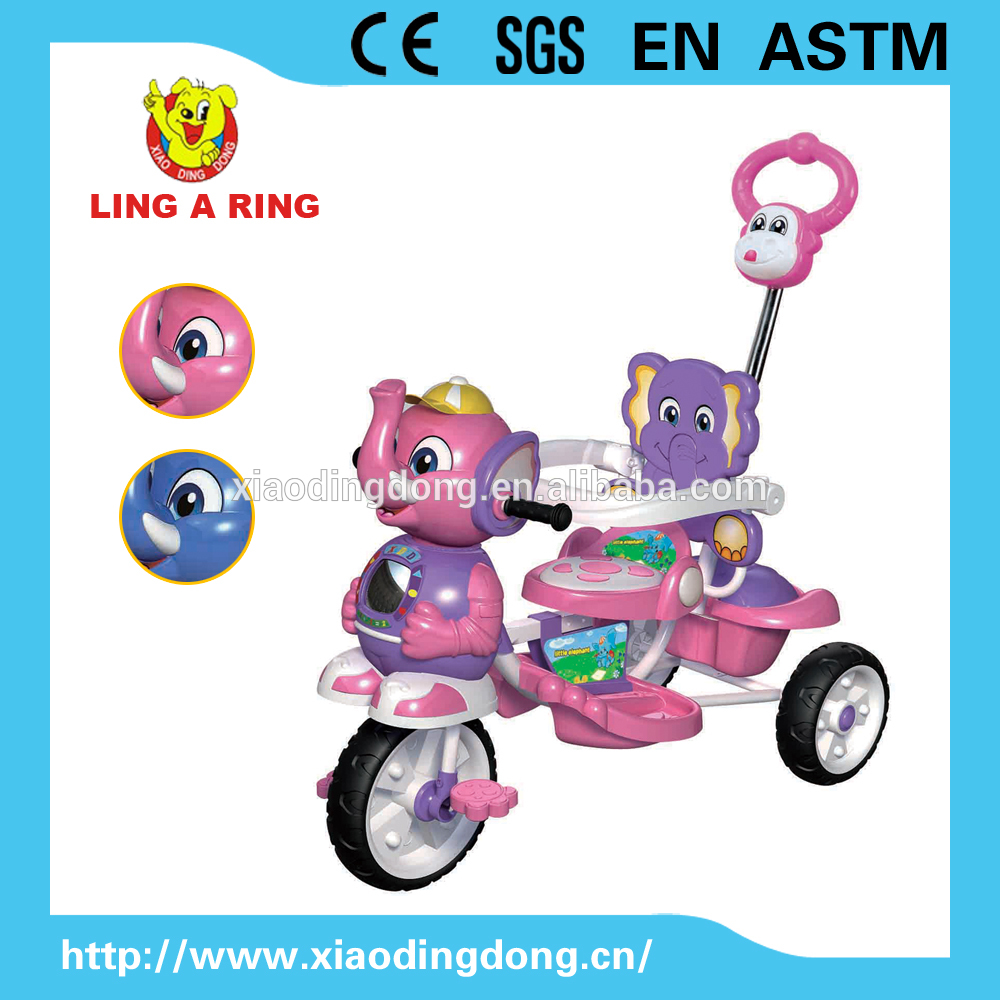 Xiaodingdong baby tricycle for kids with music/rubber wheels safety tricycle for kids 2017 high quality children tricycle