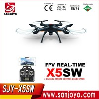 2016 Newest Syma X5SW Wifi FPV Real-time 2.4G RC Quadcopter Drone UAV RTF UFO with 2MP HD Camera Latest Version Upgrade PK X5C