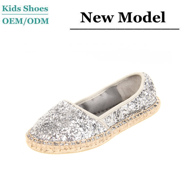 Wholesale soft glitter dance shoes girls foldable ballerina shoes