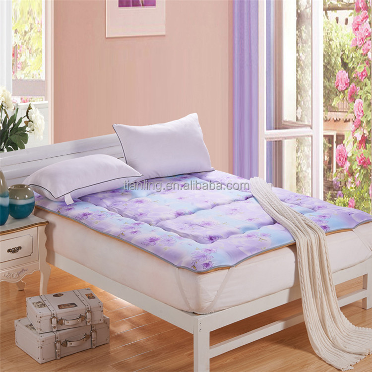 High Quality Colorful Bed Topper Cheap Mattress Price with Elastic Tie