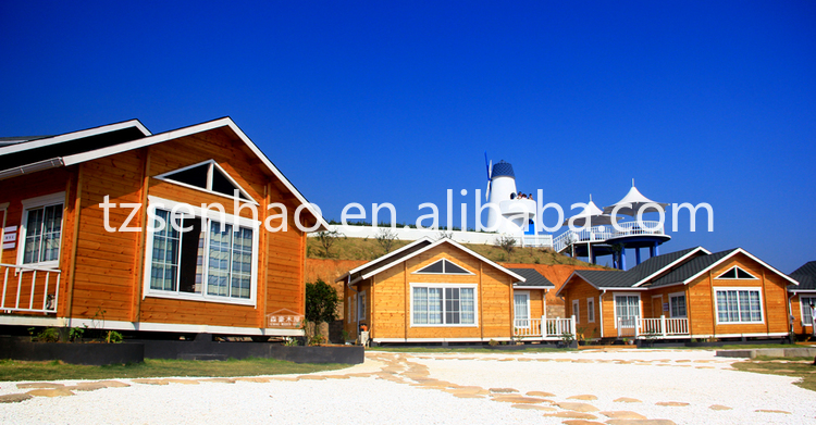 2016 novel European and American style wooden house