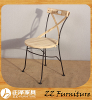Cheap Wooden X Back Dining Chair Metal X Chair for Sale