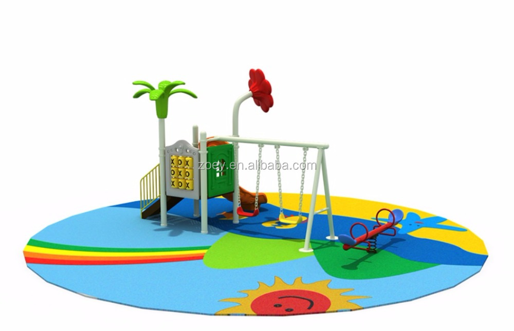 kids swing slide seesaw playground
