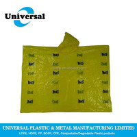 Lightweight Cheap Disposable Plastic Rain Poncho