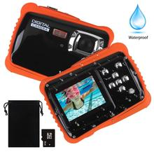 "12MP HD 2.0"" LCD, 8X Digital Zoom 8GB Waterproof Underwater Camera Action Sport Camcorder for Kids Swimming Boys and Girls Gifts"