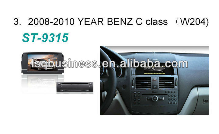 Android 4.0 System car DVD GPS For Mercedes-Benz C-Class W204 with GPS Canbus ST-9315
