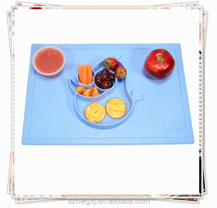 Cheap silicone placemat and plate baby dining table mat