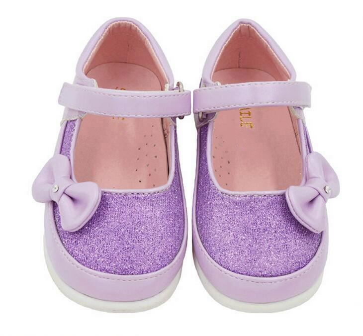 2016 new bow princess girls spring and autumn leisure children's soft danceing shoes
