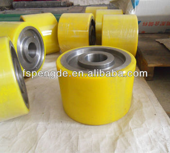 long service time for polyurethane customized wheel in low price