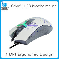 led wired gaming computer ergonomic mouse
