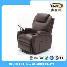 American Style genuine lounge massage heat lift chair recliner with tray for elder