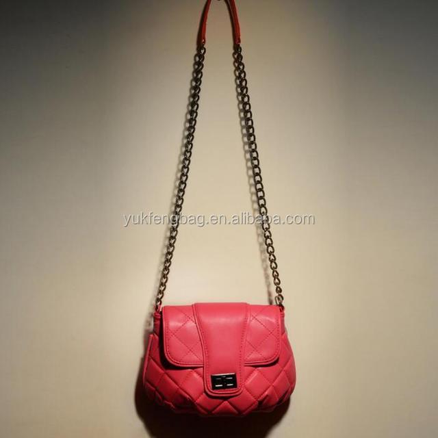 Genuine goat leather shoulder bag women handbag YF170801
