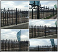 Alibaba supplier wholesale ornamental cast iron spearhead fence ZX-ZTHL003
