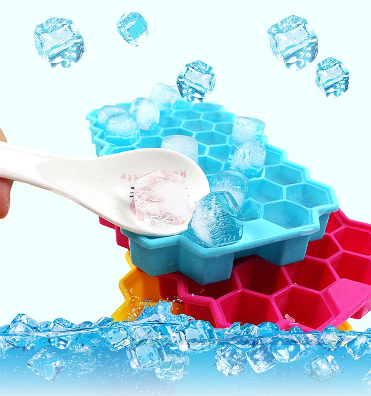 ShengYan Green Honeycomb Pattern Silicone Ice Cube Tray
