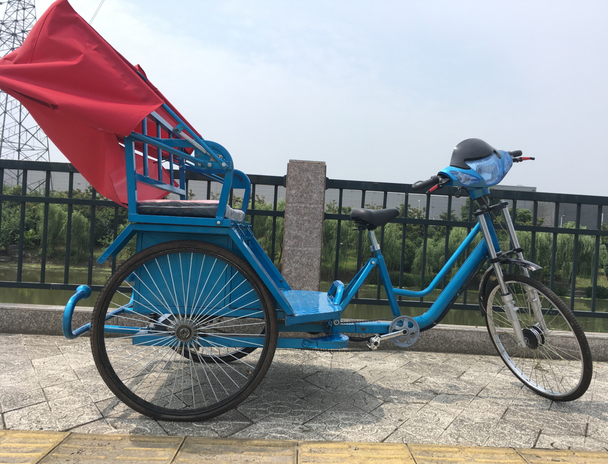 Brand new electric passenger rickshaw